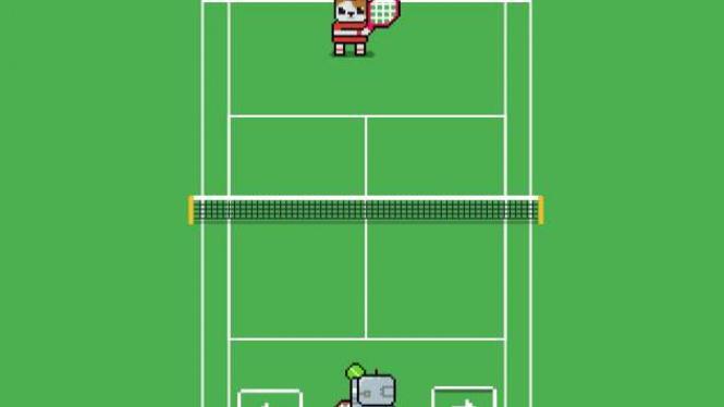 Permainan tenis di Google Search