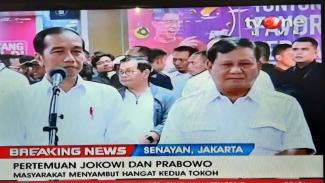 Pertemuan Jokowi dan Prabowo di MRT