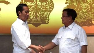 Pertemuan Jokowi-Prabowo.