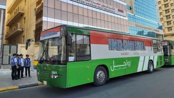 Simulasi layanan Bus Shalawat untuk jemaah haji Indonesia