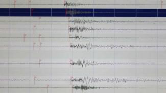 Ilustrasi seismograf pencatat gempa bumi