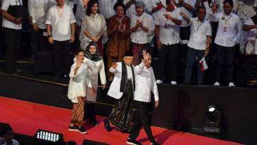 Presiden Terpilih Jokowi dan Wapres Terpilih Ma'ruf Amin di Sentul 14 Juli 2019.