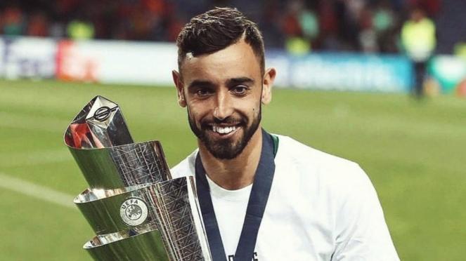 Bruno Fernandes kala membawa Timnas Portugal juara UEFA Nations League