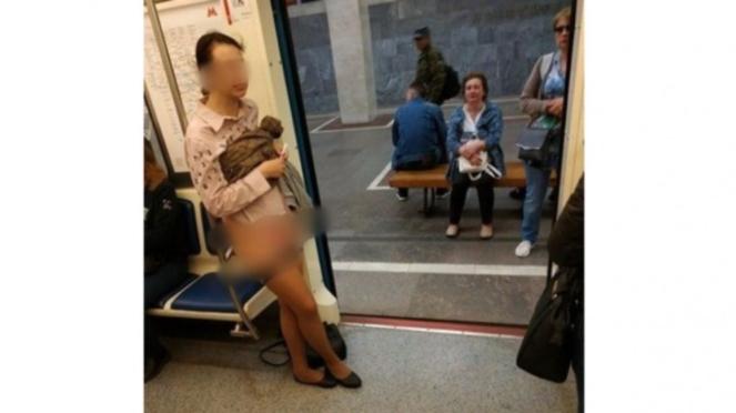 Wanita yang melakukan aksi nekat di kereta