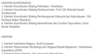 Isu menteri Jokowi-Maruf Amin