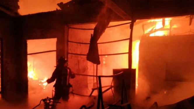 Ilustrasi kebakaran.