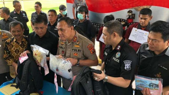 Polda Sumatera Selatan amankan empat kurir narkoba beserta barang bukti sabu