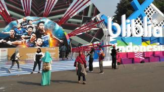 Suasana Istora Senayan pada hari pertama Blibli Indonesia Open 2019