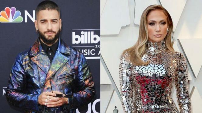Maluma dan Jennifer Lopez