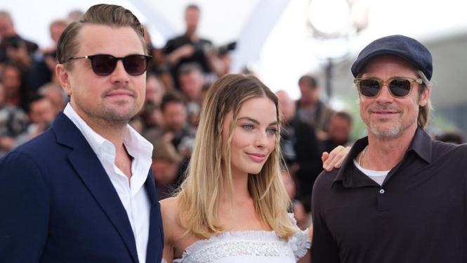Leonardo DiCaprio, Margot Robbie, Brad Pitt