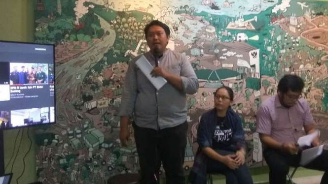 Walhi memaparkan kritikan mereka atas pidato Jokowi.