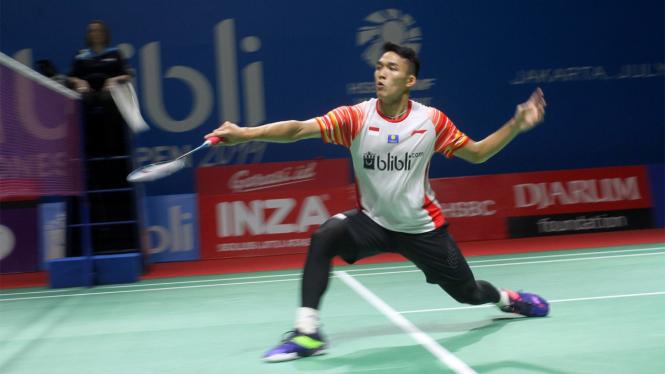 Jonatan Christie Melaju ke Babak Kedua Indonesia Open 2019