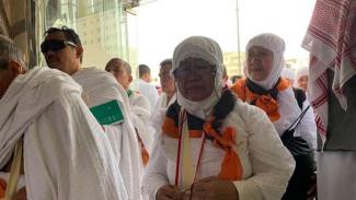 Rombongan jemaah asal JKG01 tiba di Kota Mekah