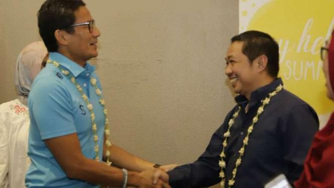 Eks Presiden PKS Anis Matta bertemu dengan Sandiaga Uno