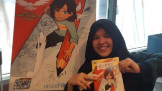 Rizka Raisa Fatimah Ramli dan komik karyanya
