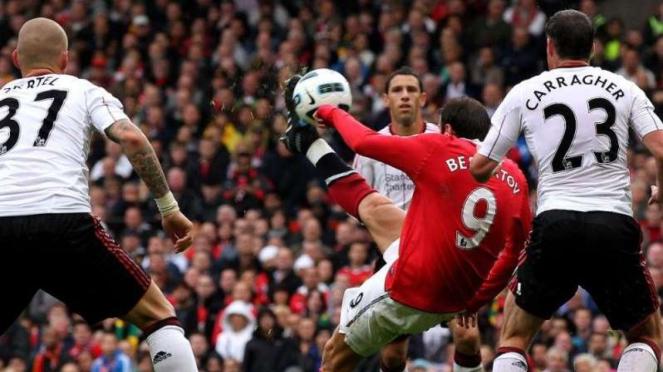 Dimitar Berbatov saat masih membela Manchester United