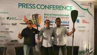 Konpres Belitong Geopark International Stand Up Paddle and Kayak Marathon 2019.