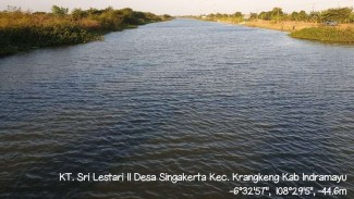 Petani Indramayu Kreatif Buat Sodetan Sungai.