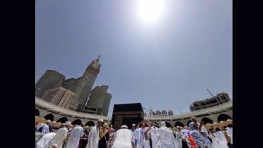 Suhu Mencapai 42 Derajat Celsius, Jemaah Waspadai Heatsroke