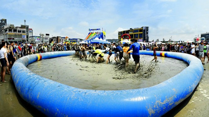 Festival lumpur di Korea Selatan