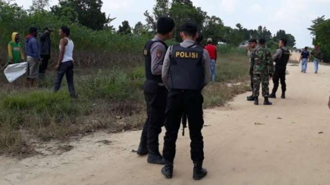 Bentrok warga di Mesuji, Lampung, Rabu, 17 Juli 2019.