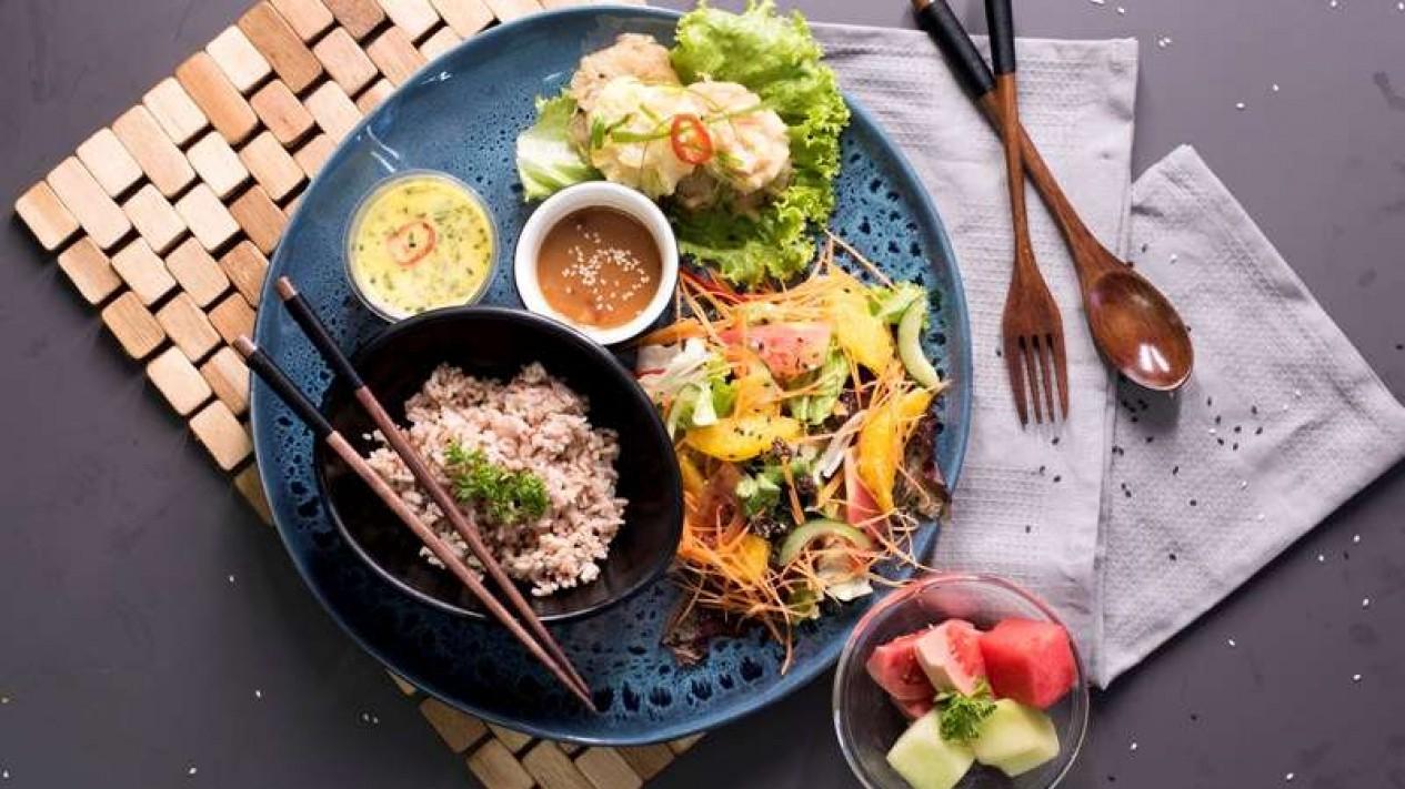 Ilustrasi menu hidangan diet