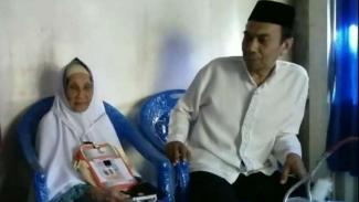 Sitti Ammase, jemaah haji asal Bone, Sulawesi Selatan yang berusia 102 tahun.