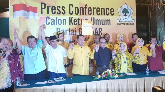 Bambang Soesatyo resmi maju sebagai Caketum Golkar.