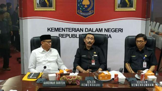 Kemendagri gelar mediasi konflik izin lahan Kemenkum HAM di Kota Tangerang.
