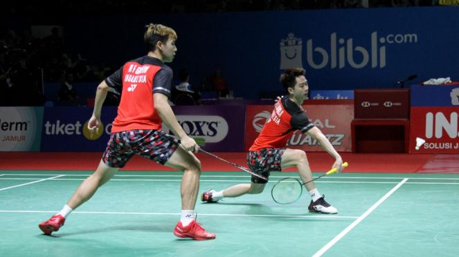 Kevin Sanjaya-Marcus Gideon melaju ke Perempat Final Indonesia Open
