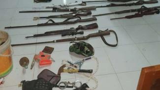 Polisi sita puluhan senjata dari kelompok SMB di Jambi.