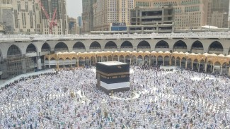Suasana Masjidil Haram usai Salat Jumat, 19 Juli 2019.