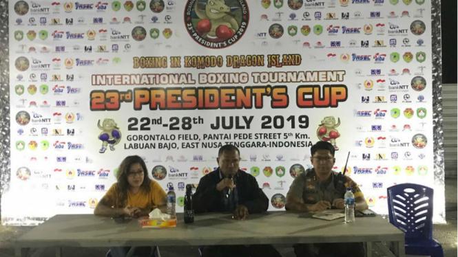 Persiapan Tinju Piala Presiden di Labuan Bajo