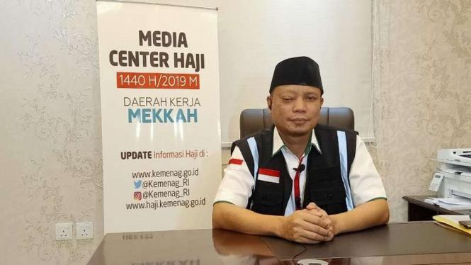 Kepala Daker Mekah, Subhan Cholid saat diwawancarai tim MCH di KUH Mekah