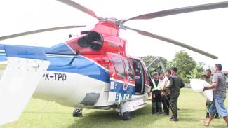 Helikopter BNPB kerahkan bantuan ke wilayah terdampak gempa di Halmahera Selatan