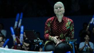 Wasit cantik di Indonesia Open 2019, Iris Metspalu.
