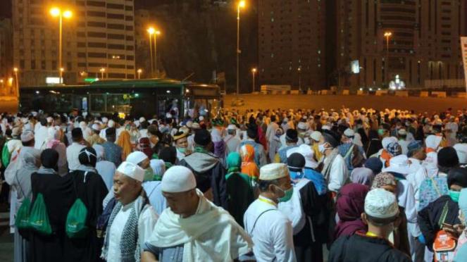 Jemaah haji Indonesia di Arab Saudi.