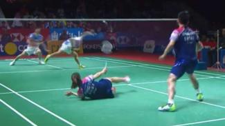 Zheng Siwei/Huang Yaqiong di final Indonesia Open 2019.