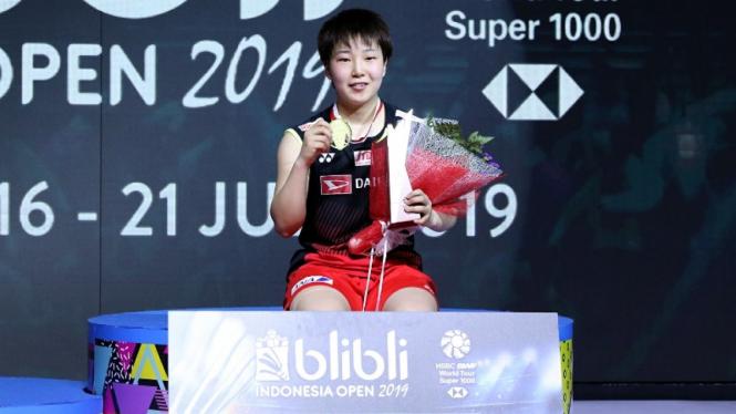 Juara tunggal putri Indonesia Open 2019, Akane Yamaguchi