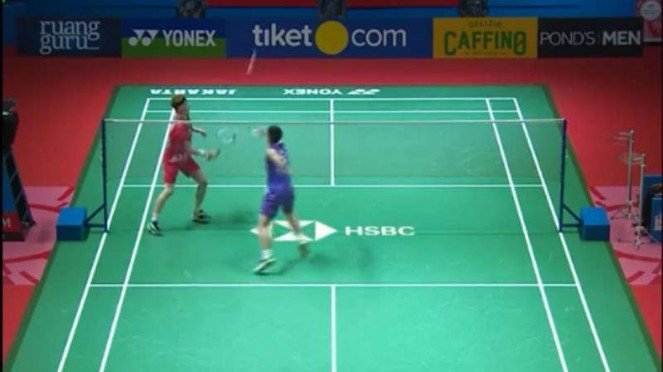 Chou Tien Chen vs Anders Antonsen di final Indonesia Open 2019.
