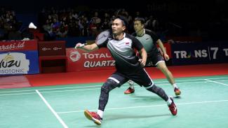 Kalahkan Ahsan-Hendra, Marcus Gideon-Kevin Sanjaya Juarai Indonesia Open 2019