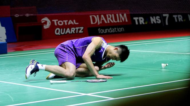 Chou Tien Chen saat di Indonesia Open 2019.