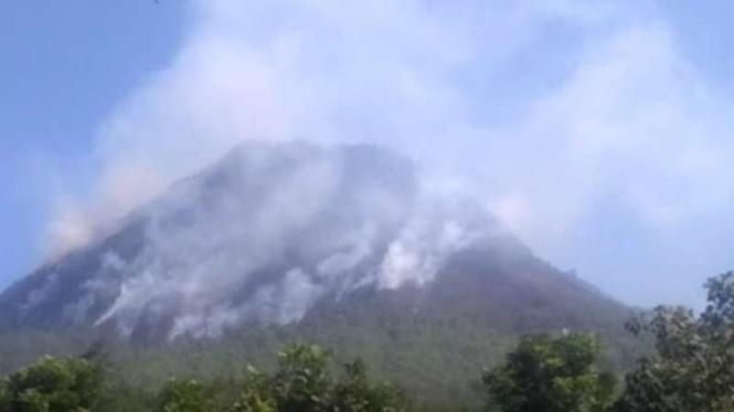 Kondisi terkini Gunung Panderman, Kota Batu, Jawa Timur.