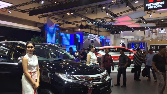 Booth Mitsubishi di GIIAS 2019.
