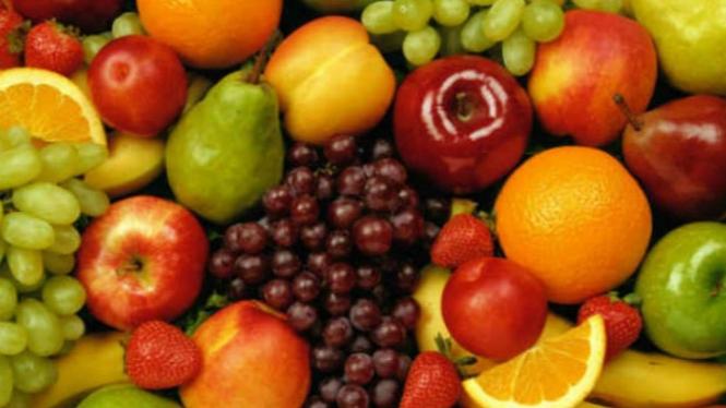 Ilustrasi buah-buahan.