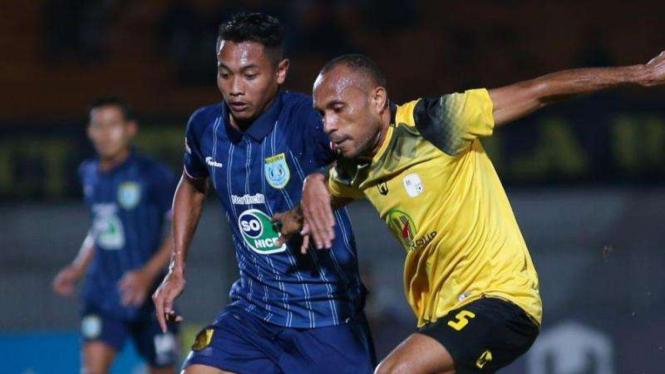 Pertandingan Liga 1 2019 antara Barito Putera kontra Persela Lamongan