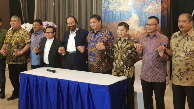 Elite Ketum parpol pendukung Jokowi