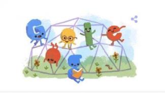 Google Doodle Hari Anak Nasional 2019.