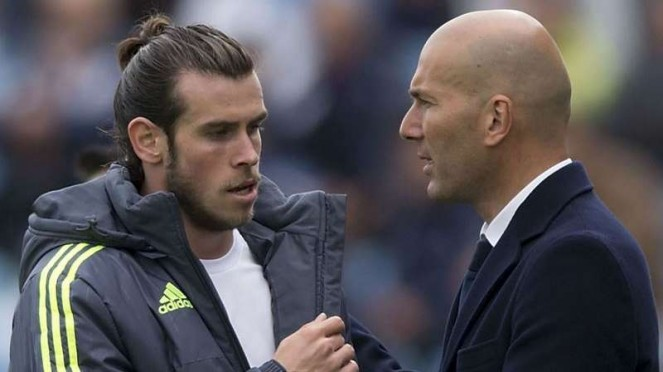 Gareth Bale dan Zinedine Zidane