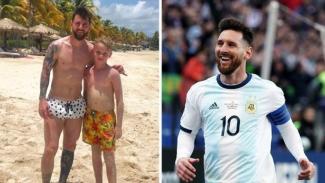 O'Neill, bocah 11 tahun bermain sepakbola bersama Messi di pantai